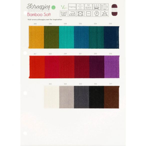 Shade Card - Scheepjes Bamboo Soft