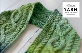 Scheepjes Pattern: YARN The After Party no. 12 Mossy Cabled Scarf by Carmen Jorissen