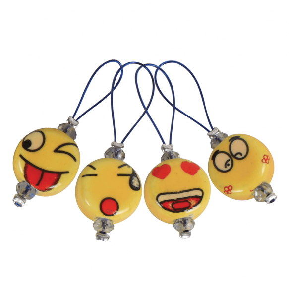 Zooni Knit Pro Stitch Markers - Smiley Faces