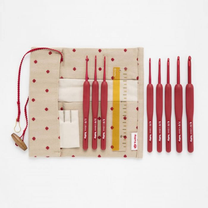 Tulip Etimo Red Crochet Hook Set - Soft Grip