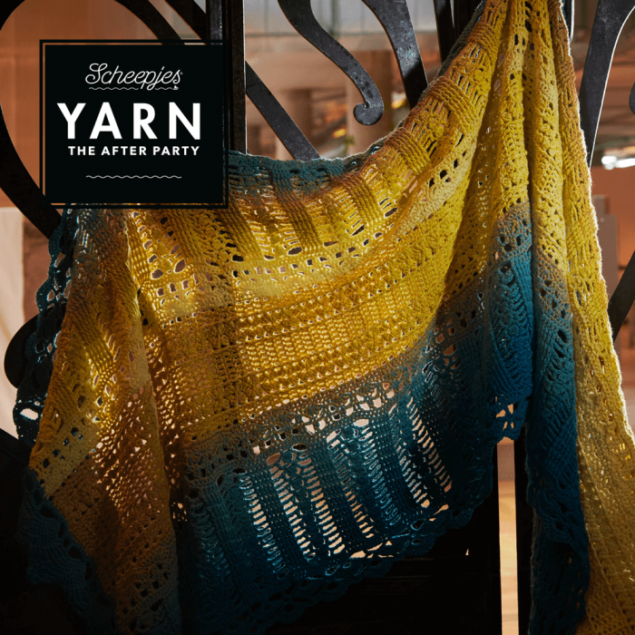 Scheepjes Pattern: YARN The After Party no. 39 Venice Wrap Shawl by Bernadette Ambergen