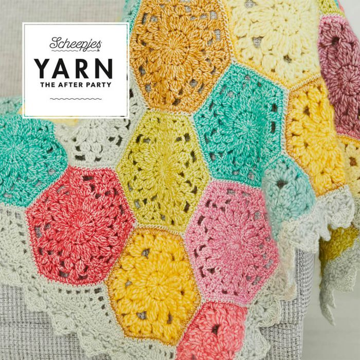 Scheepjes Pattern: YARN The After Party no. 42 Confetti Blanket by Rachele Carmona