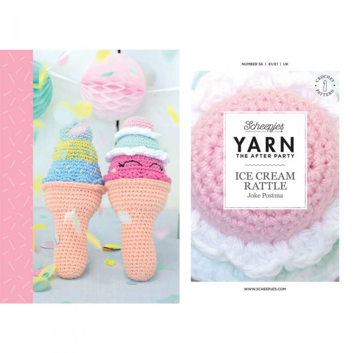 Scheepjes Pattern: YARN The After Party no. 56 Ice Cream Rattle by Joke Postma