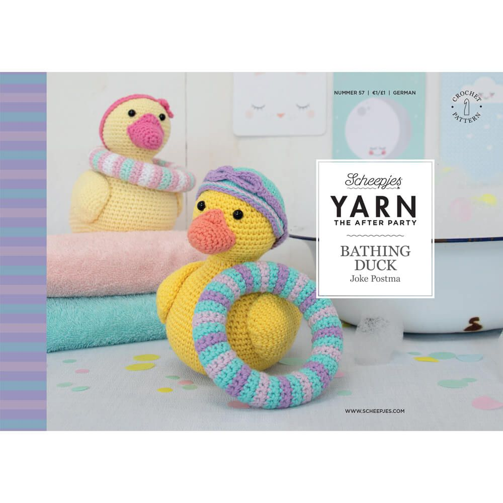 Scheepjes Pattern: YARN The After Party no. 57 Bathing Duck by Joke Postma