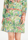 Leafy Garden Plunged V Dress