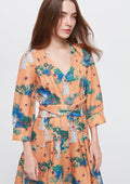 Angel Garden Textured Plunged V Dress