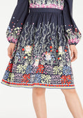 Sweetheart High-Waist Floral Dress