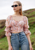 Sweetheart Puffy Sleeve Top
