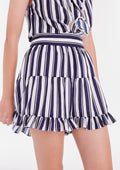 Pleated Pattern Shorts
