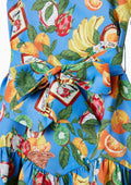 Girl Tropical Print Dress