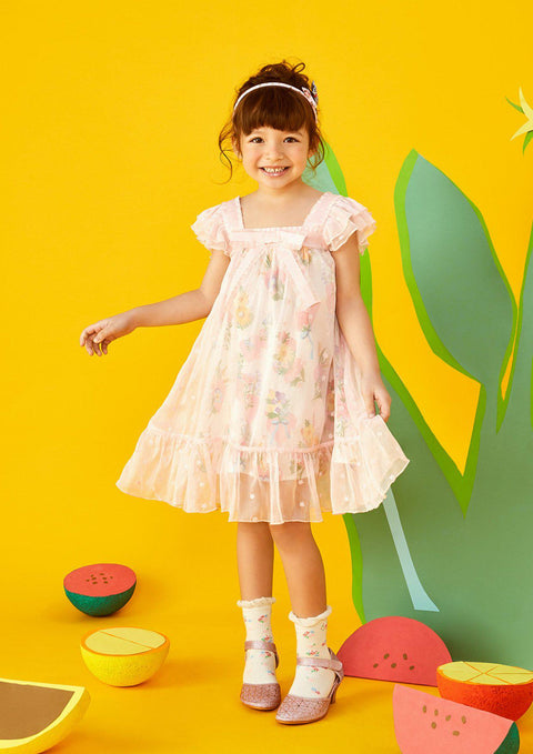 Girl Ruffle Sleeve Dress
