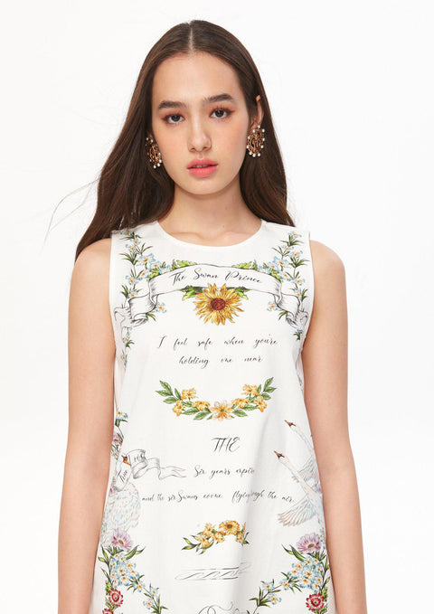 Sleeveless Print Dress - Lyn around TH