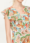 Print Oversized Romper - Lyn around TH