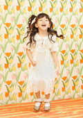 Girl Heart Print Short-Sleeve Girl Dress