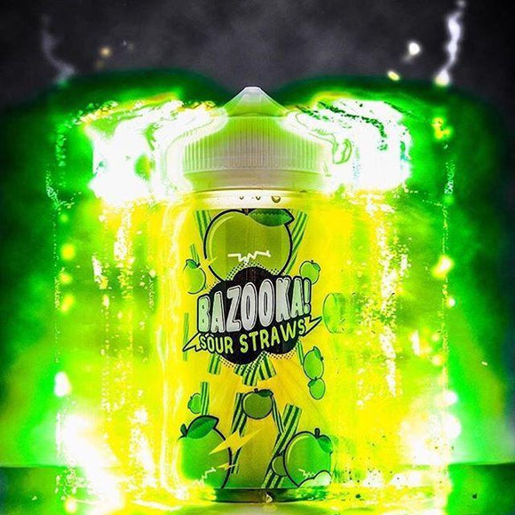 BAZOOKA VAPE - GREEN APPLE SOUR STRAWS - 60ml - VAYYIP