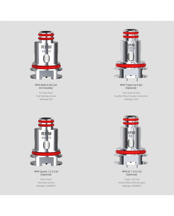 Smok RPM40 Replacement Coil Heads - VAYYIP