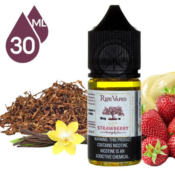 Ripe Vapes VCT Strawberry Handcrafted Saltz 30ml - VAYYIP