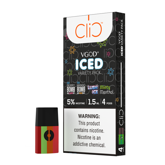 Clic VGod Iced Variety Pack 1.5ml Pods (4 count)