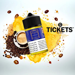 TICKETS BREW - LATTE (ESMA Approved) - 50ml