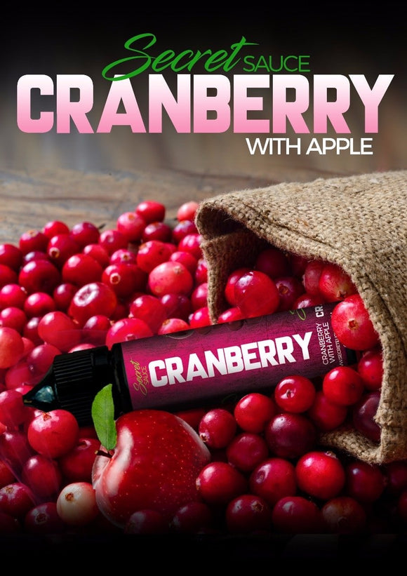 Cranberry by Secret Sauce E-Liquids – 60ml – 3mg Nic. - VAYYIP