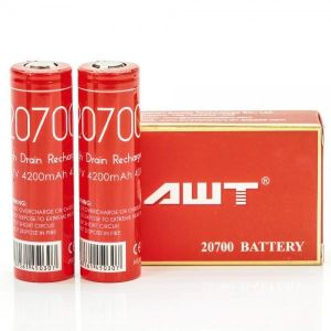 AWT 20700 – 4200mAh – 40A Sold Per Pairs(Two Batteries)