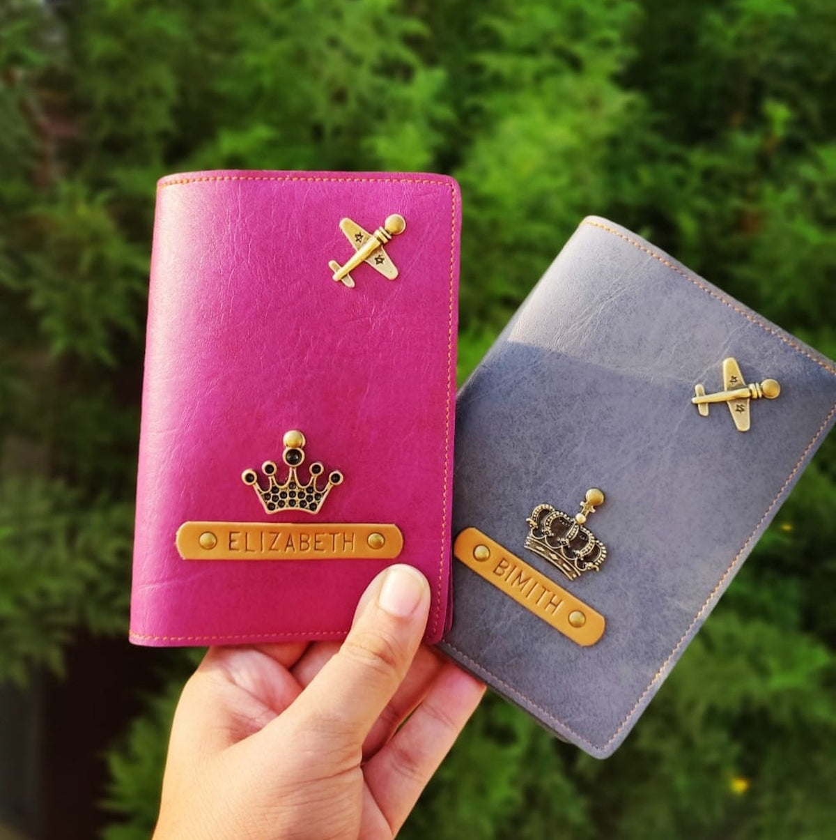 Personalized Couple Passport Cover