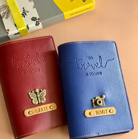 Personalized Passport Cover - Travel is to Live