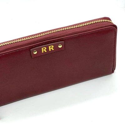 Personalised Zip-around Womens Wallet - Wine