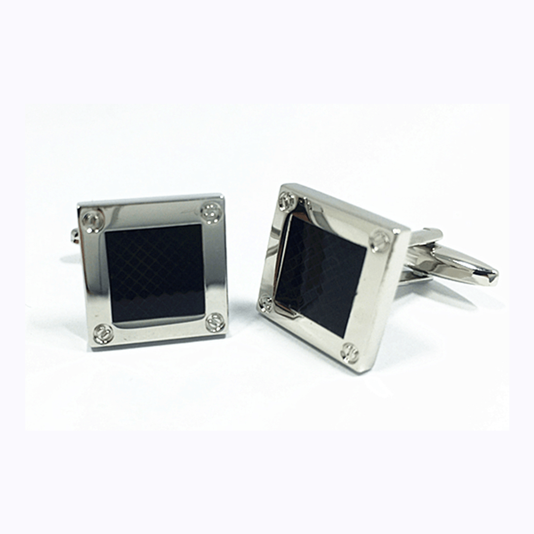 Cufflinks - Black Square Cufflinks