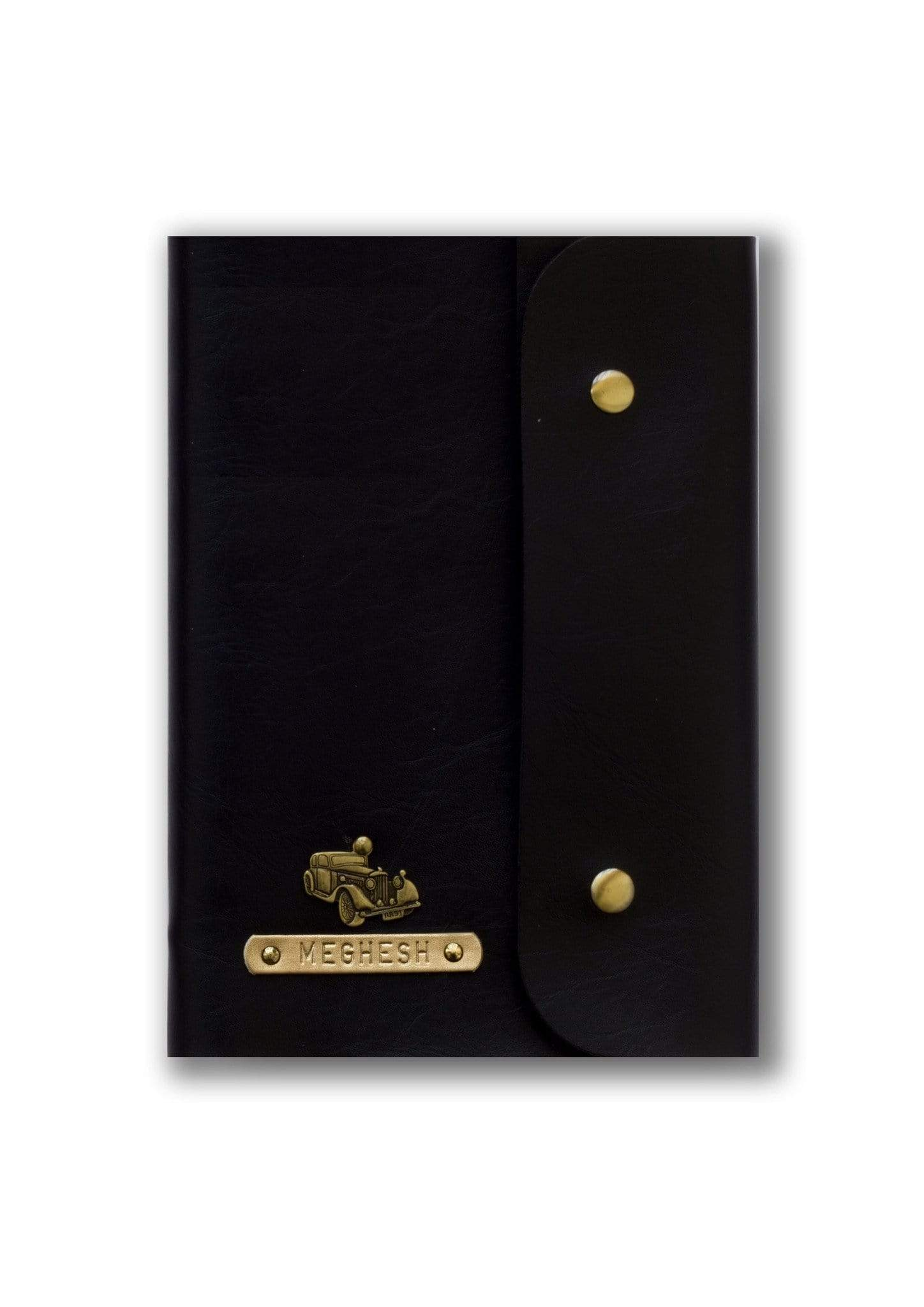 Customised Black Button Diary Diary