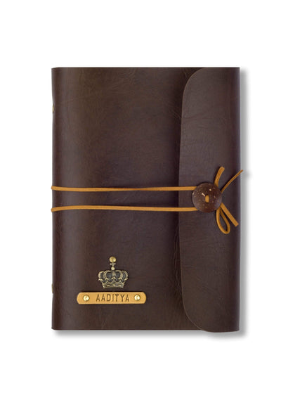 Customized Chocolate Brown Thread Diary Diary