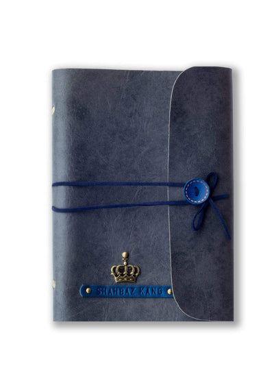 Customized Grey Diary with Blue Thread Diary
