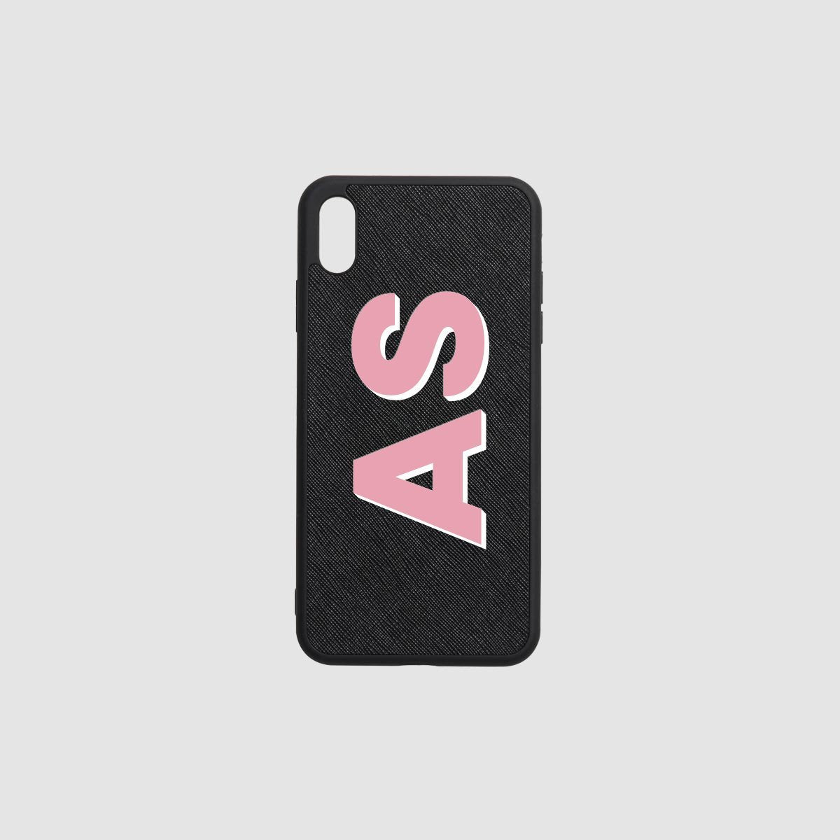 Shadow Text Personalised iPhone case- Black