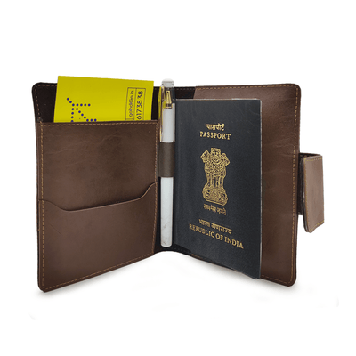 Mini Travel Wallet - Dark Brown Mini Travel Wallet