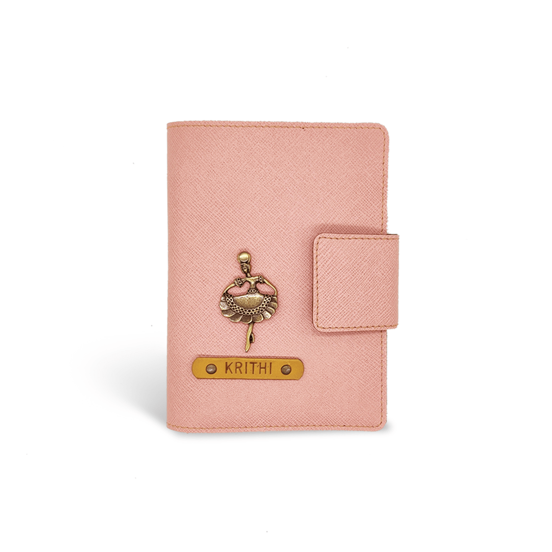 Mini Travel Wallet - Salmon Pink Mini Travel Wallet