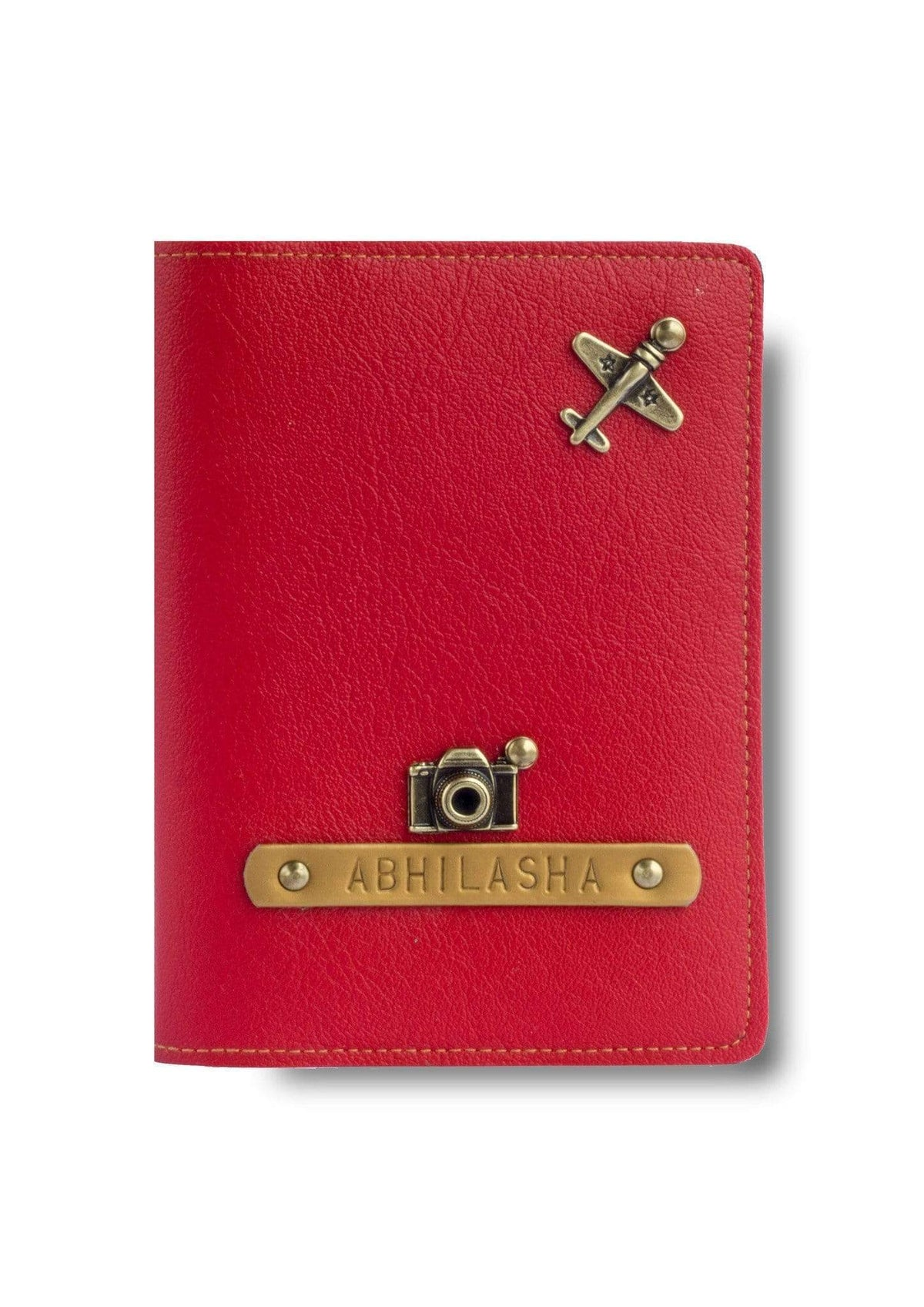 Passport Cover Case - Red Passport Cover