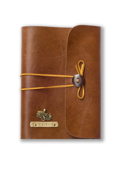 Personalised Brown Thread Diary Diary
