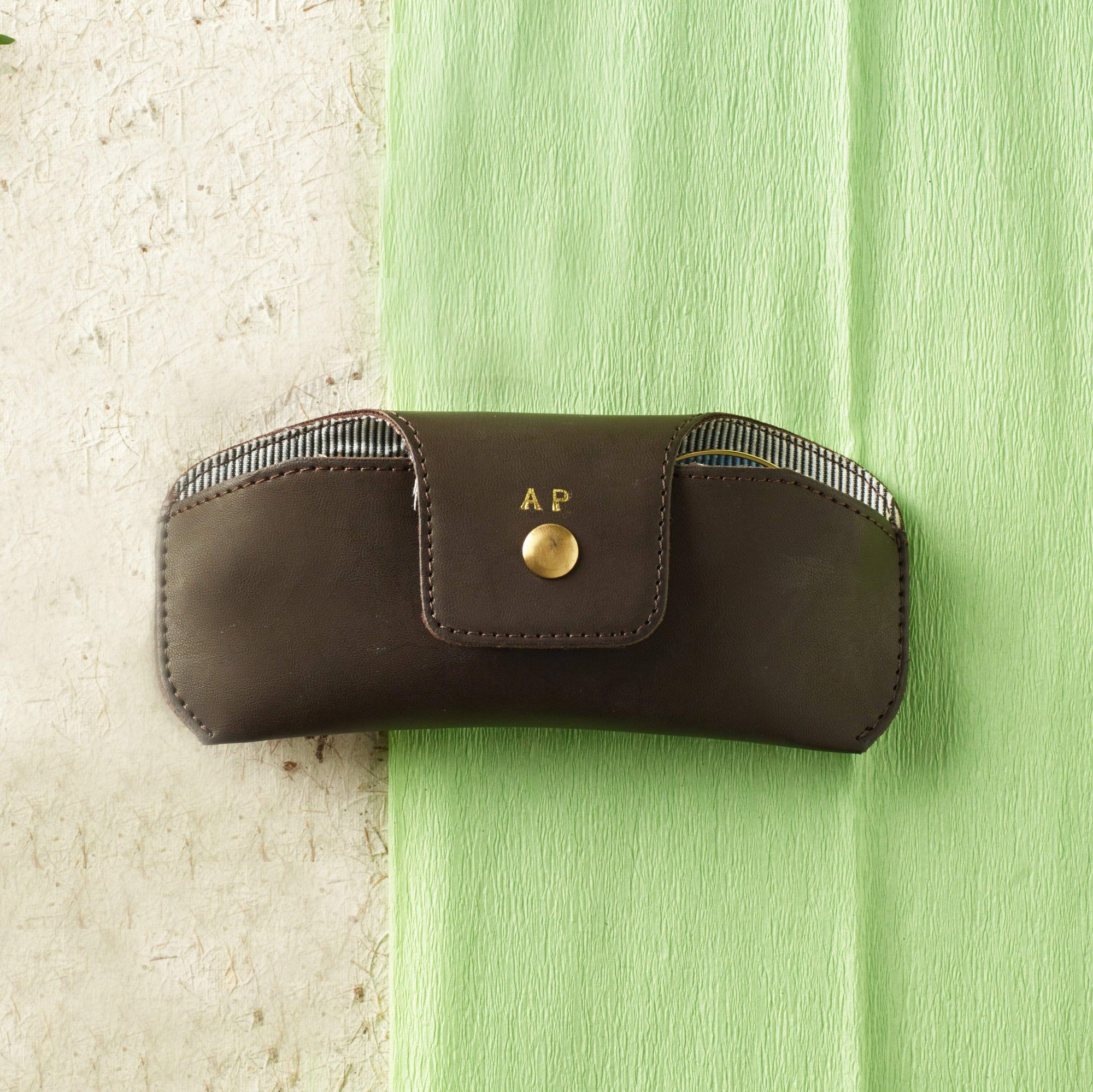 Personalised Eyewear Case - Chocolate Brown Eyewear Case