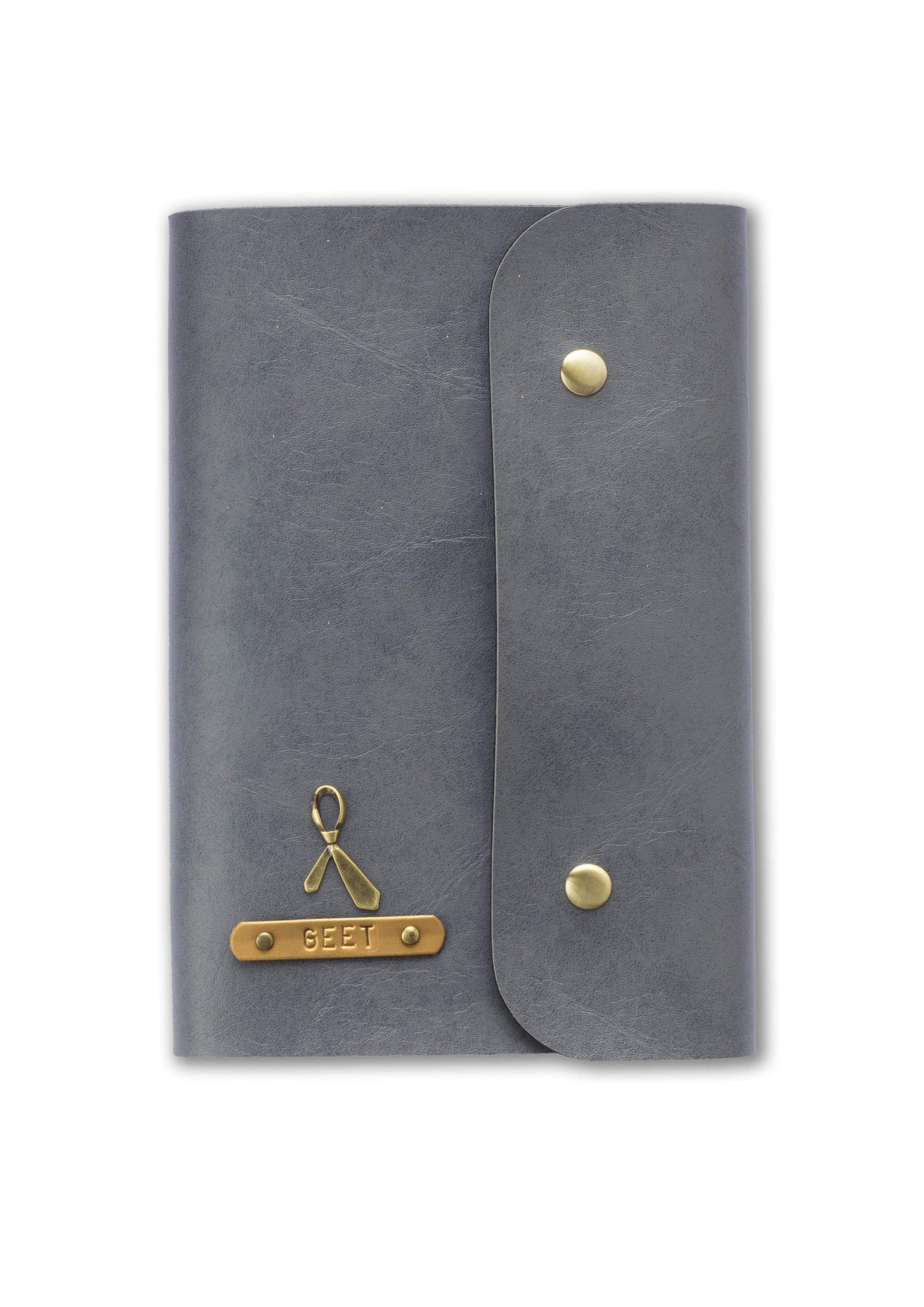 Personalised Grey Button Diary Diary