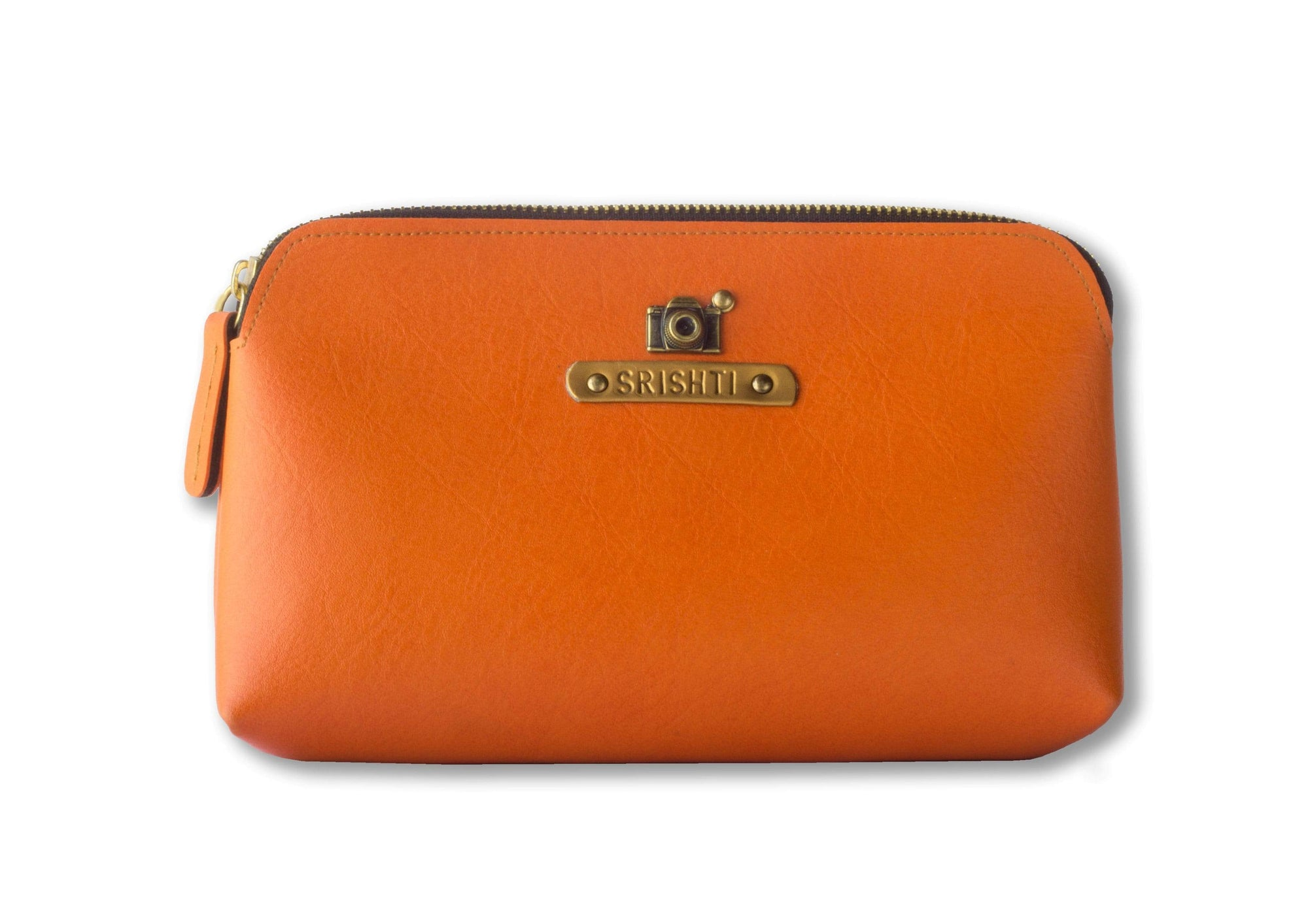 Personalized Carry All Pouch - Orange Pouches