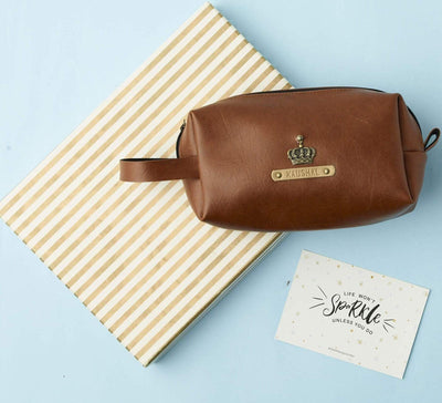 Personalized Large Pouch - Tan Pouches