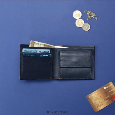 Personalized Men's Wallet - Deep Blue Mens Wallet