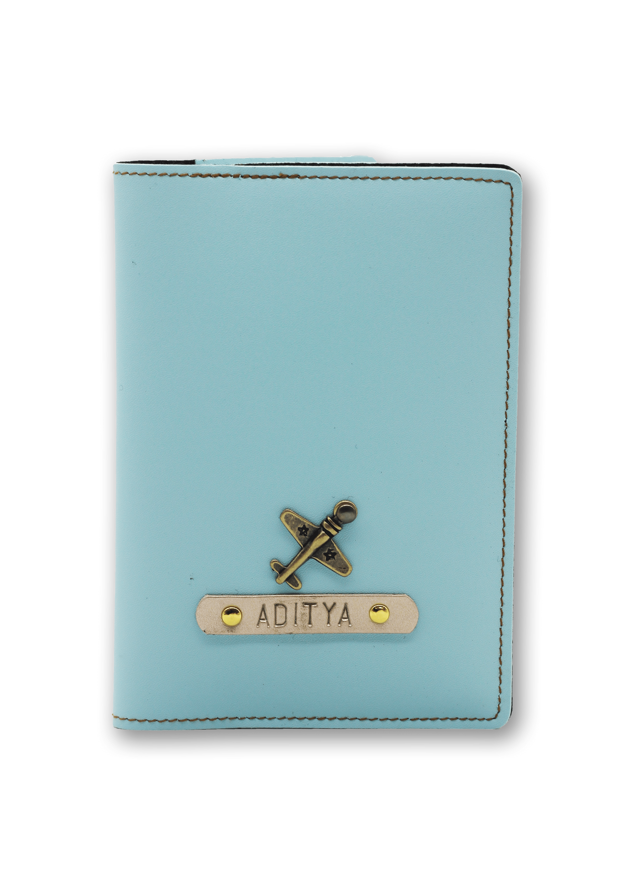 Personalized Passport Cover - Mint Blue