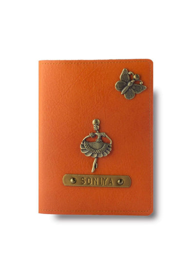 Personalized Passport Cover - Orange Passport Cover