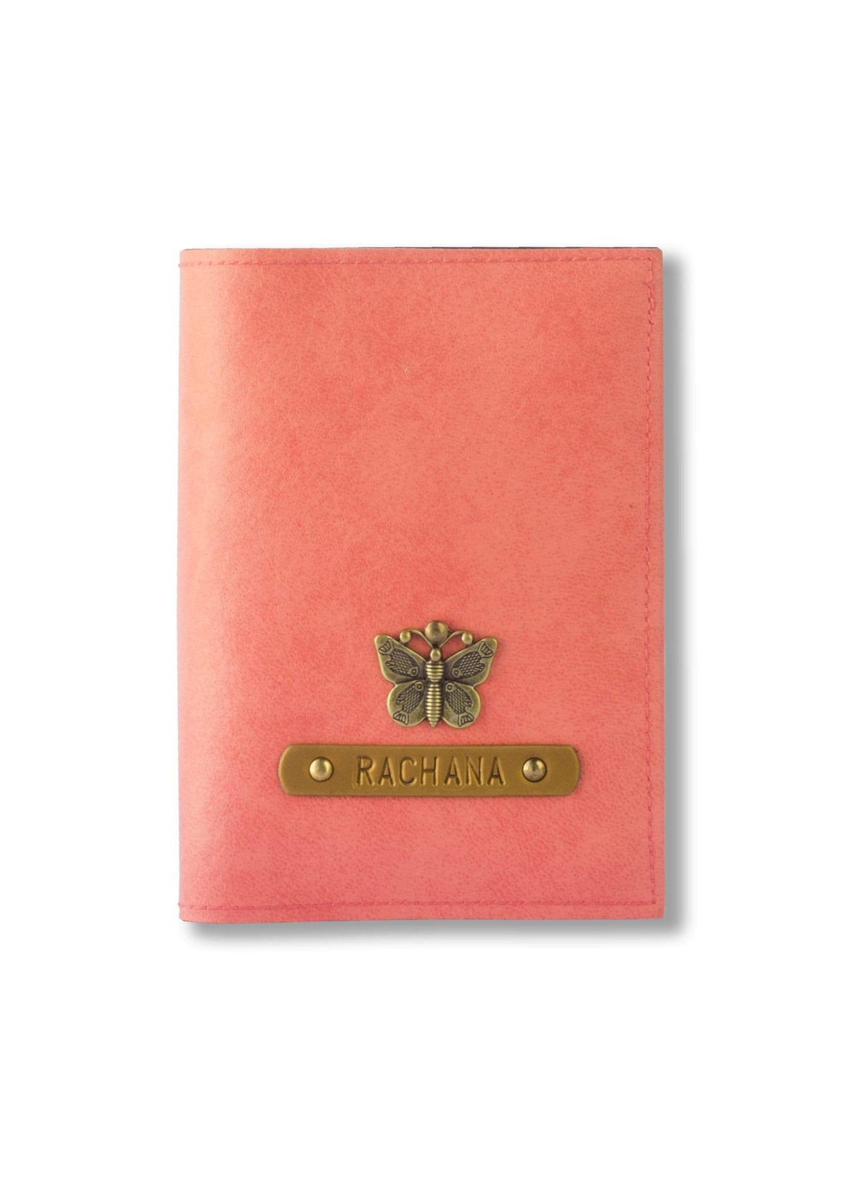 Personalized Passport Cover - Peach Passport Cover