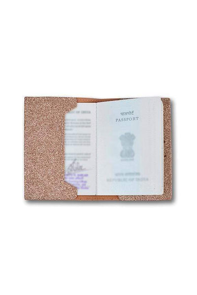Personalized Passport Cover - Rose Gold Glitter Passport Cover
