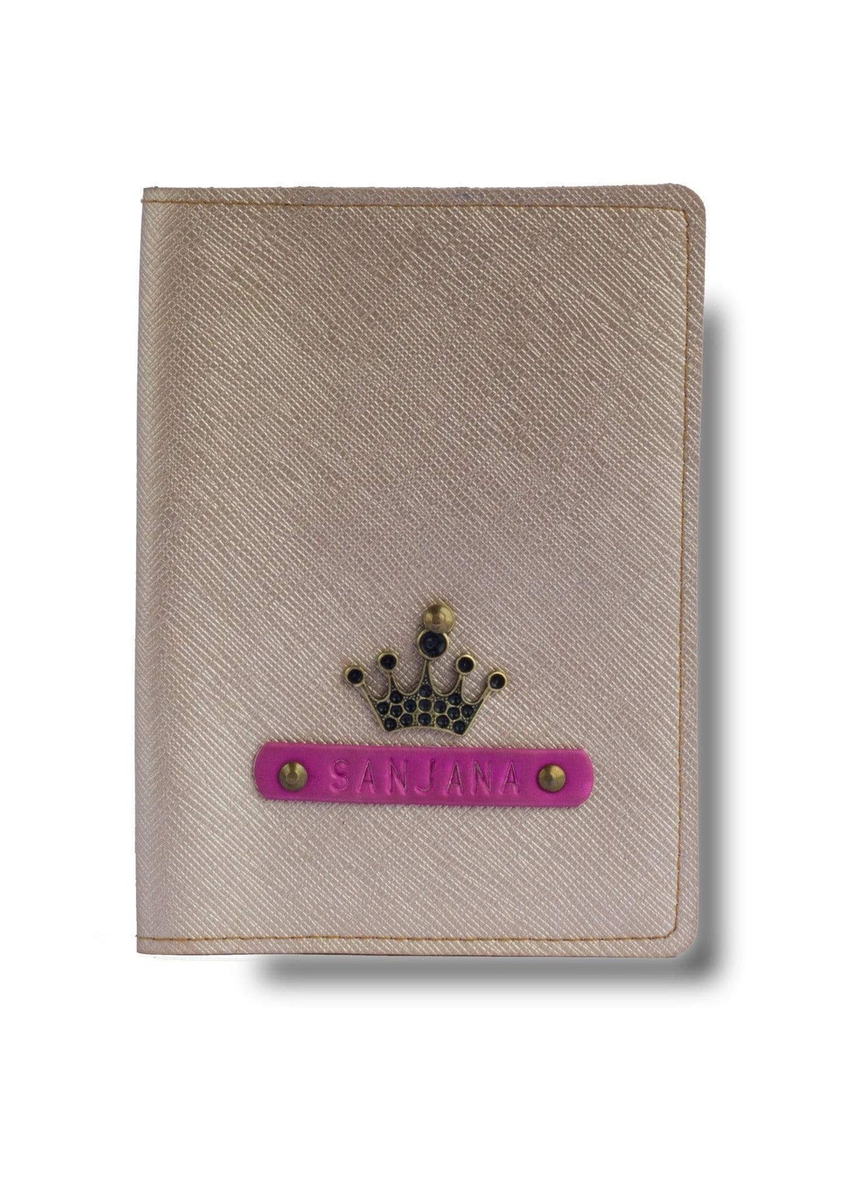 Personalized Passport Cover - Rose Gold Passport Cover