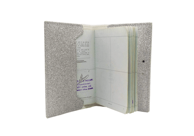 Personalized Passport Cover - Silver Glitter Passport Cover