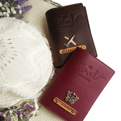 Personalized Passport Cover - Travel is to Live Passport Cover