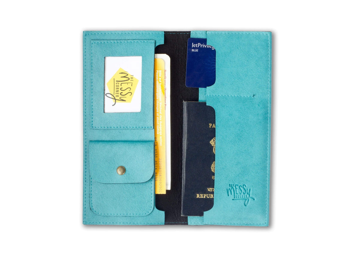 Personalized Travel Wallet - Light Blue Travel Wallet